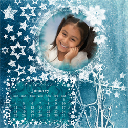 "Scrapbook template ""January #18"" in ""Calendars 2009"""