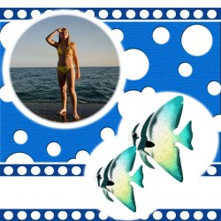 "Scrapbook template ""Sea life #05"" in ""Sea life"""