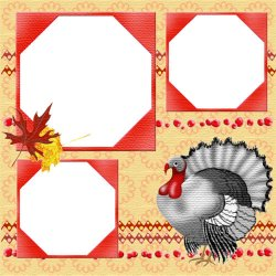"Scrapbook template ""PhotoMix Thanksgiving #1"" in ""Thanksgiving"""