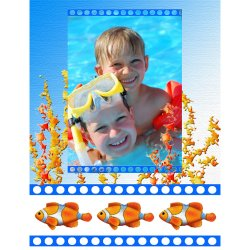 "Scrapbook template ""Sea life #12"" in ""Sea life"""