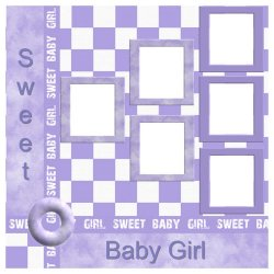 "Scrapbook template ""Sweet Baby Girl #1"" in ""Baby Scrapbooking"""