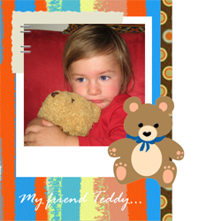 "Scrapbook template ""Toy Store #12"" in ""Baby Scrapbooking"""