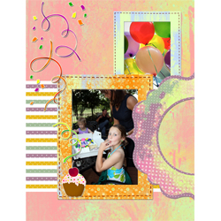 "Scrapbook template ""Birthday party #13"" in ""Birthday Scrapbooking"""