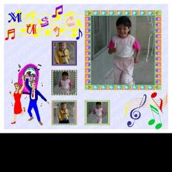 "Scrapbook template ""Music #2"" in ""Misc"""