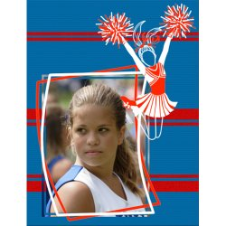 "Scrapbook template ""Cheerleaders #10"" in ""Cheerleaders"""