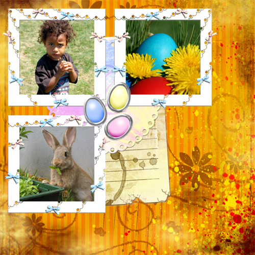"Scrapbook template ""Easter 2010 #20"" in ""Easter"""