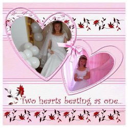 "Scrapbook template ""Wedding #5"" in ""Wedding Scrapbooking Templates"""