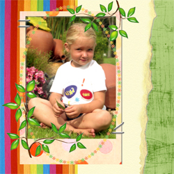 "Scrapbook template ""Family #10"" in ""Family"""