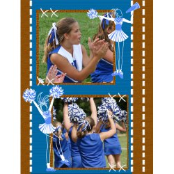 "Scrapbook template ""Cheerleaders #05"" in ""Cheerleaders"""