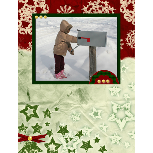 "Scrapbook template ""Christmas 09 #15"" in ""Christmas Scrapbooking"""
