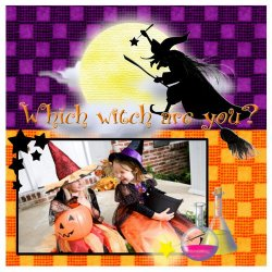 "Scrapbook template ""PhotoMix Little Witch #1"" in ""Halloween"""