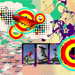 "Scrapbook template ""Skateboard #14"" in ""Sport"""