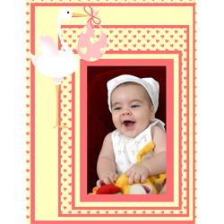 "Scrapbook template ""Baby Shower #11"" in ""Baby Shower"""