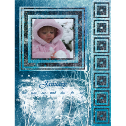 "Scrapbook template ""January #13"" in ""Calendars 2009"""