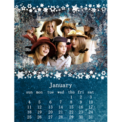 "Scrapbook template ""January #07"" in ""Calendars 2009"""