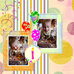"Scrapbook template ""Birthday party #06"" in ""Birthday Scrapbooking"""