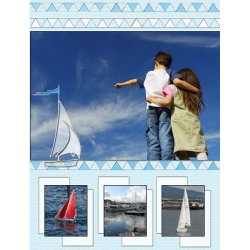 "Scrapbook template ""Travel #15"" in ""Travel"""