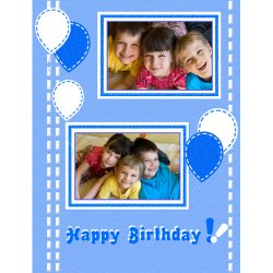 "Scrapbook template ""Birthday #06"" in ""Birthday Scrapbooking"""