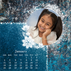 "Scrapbook template ""January #08"" in ""Calendars 2009"""