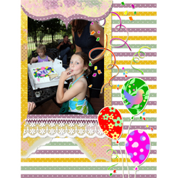 "Scrapbook template ""Birthday party #09"" in ""Birthday Scrapbooking"""