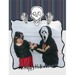 "Scrapbook template ""Painted Halloween #03"" in ""Halloween"""