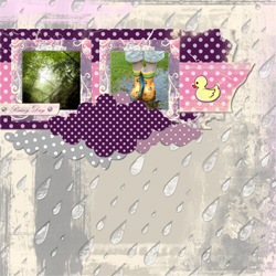 "Scrapbook template ""Rainy Day #12"" in ""Seasonal"""