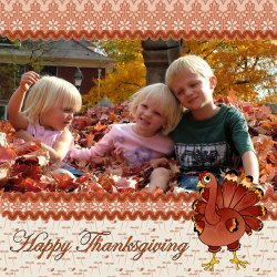 "Scrapbook template ""Thanksgiving #08"" in ""Thanksgiving"""