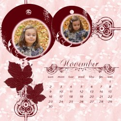 "Scrapbook template ""November #12"" in ""Calendars 2008"""