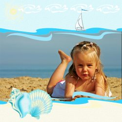 "Scrapbook template ""Summer #09"" in ""Summer Vacation"""