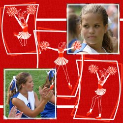 "Scrapbook template ""Cheerleaders #18"" in ""Cheerleaders"""