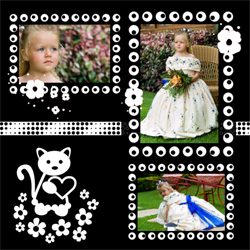 "Scrapbook template ""Black&White #12"" in ""Black&White"""