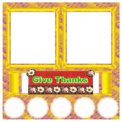 "Scrapbook template ""Rainbow (backgrounds) #14"" in ""Thanksgiving"""