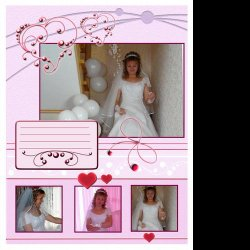 "Scrapbook template ""Wedding #4"" in ""Wedding Scrapbooking Templates"""