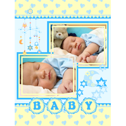 "Scrapbook template ""Baby Shower #07"" in ""Baby Shower"""
