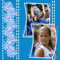 "Scrapbook template ""Cheerleaders #17"" in ""Cheerleaders"""