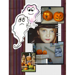 "Scrapbook template ""Painted Halloween #19"" in ""Halloween"""
