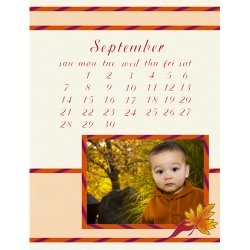 "Scrapbook template ""September #03"" in ""Calendars 2008"""
