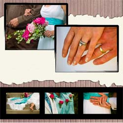 "Scrapbook template ""Wedding #04"" in ""Wedding Scrapbooking Templates"""