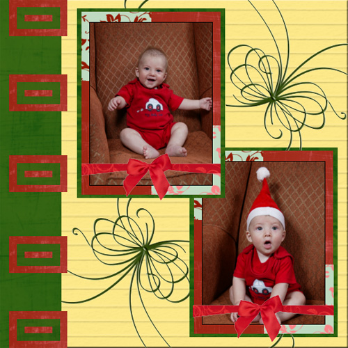 "Scrapbook template ""New Year 2009 #06"" in ""New Year"""