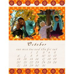"Scrapbook template ""October #11"" in ""Calendars 2008"""
