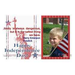"Scrapbook template ""Independence Day Card #2"" in ""Independence"""