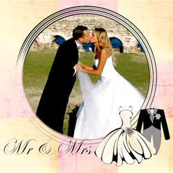 "Scrapbook template ""Wedding #02"" in ""Wedding Scrapbooking Templates"""