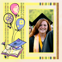 "Scrapbook template ""Graduation #14"" in ""Graduation"""