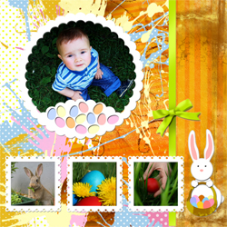 "Scrapbook template ""Easter 2010 #10"" in ""Easter"""