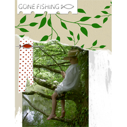 "Scrapbook template ""Fishing #15"" in ""Summer Vacation"""