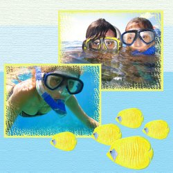 "Scrapbook template ""Water Activities #18"" in ""Hobbies"""