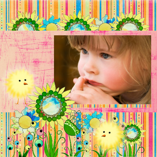 "Scrapbook template ""Easter #32"" in ""Easter"""