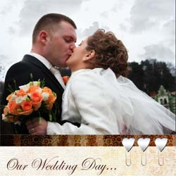 "Scrapbook template ""Wedding #06"" in ""Wedding Scrapbooking Templates"""