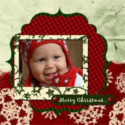 "Scrapbook template ""Christmas 09 #06"" in ""Christmas Scrapbooking"""