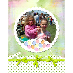 "Scrapbook template ""Easter 2010 #07"" in ""Easter"""